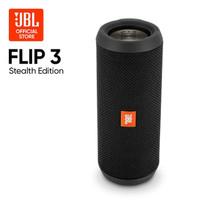 JBL FLIP 3 Harman Stealth Edition Portable Bluetooth Speaker ORIGINAL - Hitam