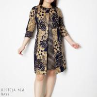 Ristela New Dress Super Jumbo - Dress Batik Wanita Terusan Wanita