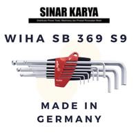 WIHA SB 369 S9 Kunci L Ball End Hex L-Key Set ProStar Made in Germany