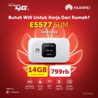 Modem Mifi Huawei E5577 4G LTE Bundling Telkomsel 14GB