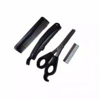 Alat Cukur Rambut 1 Set Berkualitas Gunting Sasak/Pisau/Sisir Murah