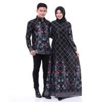 batik couple baju pesta pipit hitam