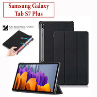 Samsung Tab S7 Plus 2020 Flipcover Smart Case Book Cover Casing Kulit