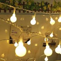Lampu Hias Dekorasi Ruangan Pesta Sperical Light String Portable - 3 Meter, Warm White