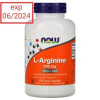 Now Foods L-Arginine 500 mg 250 vegCaps amino acid