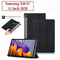 Samsung Tab S7 2020 T875 Flip Smart Case Book Cover Casing Kulit Kuat