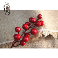 Cherry Merah Hiasan Parcel Bunga Natal Murah Dekorasi Box Kue Natal
