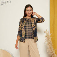 Riza New Top Jumbo - Atasan Batik Jumbo Wanita Lengan Panjang