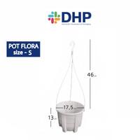 Pot Flora S (D=17,5cm )/ Pot Gantung /Pot Gantung Putih / Pot Plastik