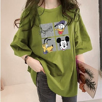 Mickey T Shirt Style Oversized Original Korean Fashion Wanita Korea