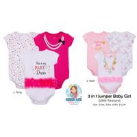 JUMPER BABY GIRL 3 IN 1 / OVERALL IMPORT / NEWBORN LITTLE TREASURE