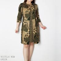 Ristela New Dress Jumbo - Dress Batik Jumbo Wanita Terusan Wanita