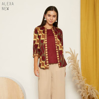 Alexa New Top Super Jumbo - Atasan Batik Wanita Lengan Panjang