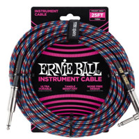Ernie Ball 6063 25 Feet Braided Straight / Angle Instrument Cable