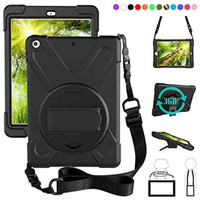 IPAD 5 / 6 2017-2018 Defender Military Hybrid Armor Case Strap Rugged