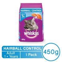Whiskas - 450g Hairball Control Chicken & Tuna makanan kucing
