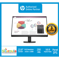 Monitor LED HP P24v IPS BezelBess FHD VESA MOUNT GARANSI 3 TAHUN