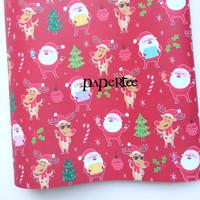 Kertas Kado Natal Santa Claus Sinterklas Bungkus Kado Sampul Buku