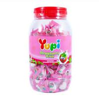 PERMEN YUPI STRAWBERRY KISS JELLY/TOPLES - 300 gr