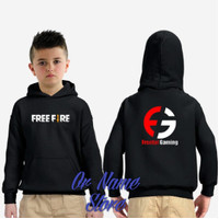 sweater Hoodie anak free fire gaming - Putih, M