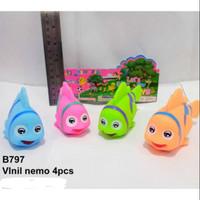 Mainan Vynil Karet Ikan Nemo 4 pcs No.B 797