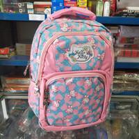Tas sekolah anak SD import Hello Kitty Love Blue 8804