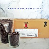 Tulip Dark Chocolate Chips 500gr Cokelat Chip Coklat MURAH