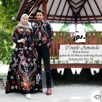 couple batik sarimbit gamis sogan manok merah