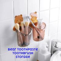 Gantungan Tempel Beruang Tempat Odol Sikat Gigi Toothbrush Holder