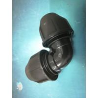 Fitting HDPE Elbow / Knee / Siku COmpress ukuran 32 mm x 32mm (1 inch)