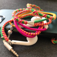 Handsfree Headset Bracelet Handmade Rope Earphones Bohemian Style