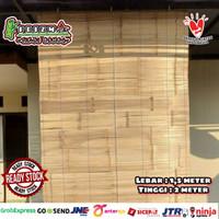 Promo Tirai bambu Ati Size Lebar 1,5m x Tinggi 2m