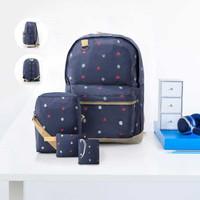 BRCBI Tas Ransel Backpack Sekolah Anak Perempuan Cewek 4 in 1