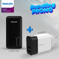 Philips Special Package Powerbank DLP6812C Black + DLP4320NS Adaptor