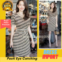 Baju Wanita Dress Knit Mini Import Bangkok Gaun Mini Rajut Premium