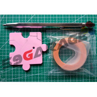 59garage Scribber dan Dymo Tape - Gundam Model Kit Tool