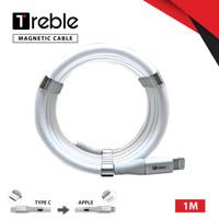 TREBLE Type C Magnet Kabel Charger Anti Kusut Type C 1M - TKB4 - Lightning, Putih