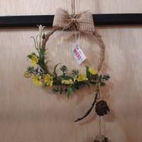 Hiasan Dinding Bunga Bulat Kecil