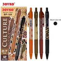 Ballpoint Batik Culture Joyko BP-184 0,7 Hitam (Pack 12 Pcs) BP184