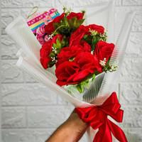Buket Bunga | Buket Bunga 6 Kuntum | Buket Bunga Palsu