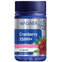 Wagner Cranberry 25000+ Urinary Tract Bladder Health Made In Australia