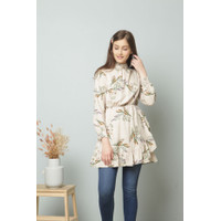 Pakaian Wanita Irish Beige Floral Tunic Merche