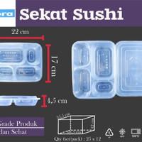 THINWALL SUSHI SEKAT 4 - FOOD CONTAINER SUSHI - PLUS TUTUP ISI 25 SET