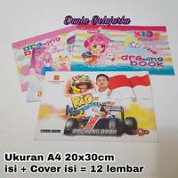 Buku Gambar Kiky A4 / Drawing Book A4 Kiky / isi 10 Lbr / Satuan