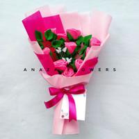 Buket Bunga Flanel Wisuda Murah / ANAZA-B6