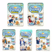 PAMPERS SWEETY SILVER S66/M60/L54/XL44/XXL36 / SWEETY SILVER GROSIR