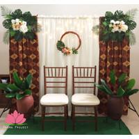 Paket Backdrop Lamaran, Pelaminan Mini Rumahan SEWA - Batik Klasik