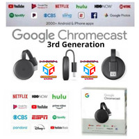 GOOGLE CHROMECAST 3 NEW 3RD GENERATION CHROME CAST VERSION 3