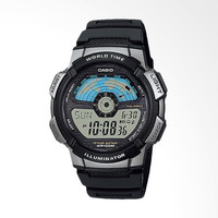 Jam Tangan Pria Casio AE-1100W-1AVDF Illuminator Digital Black Rubber