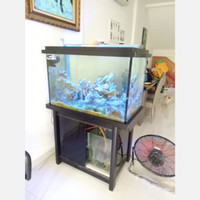 Aquarium set dengan wave maker